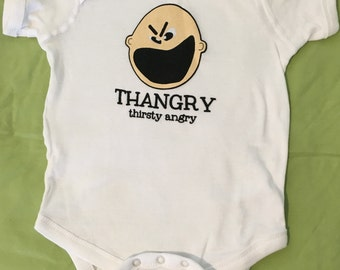 Thangry- Thirsty Angry onesie