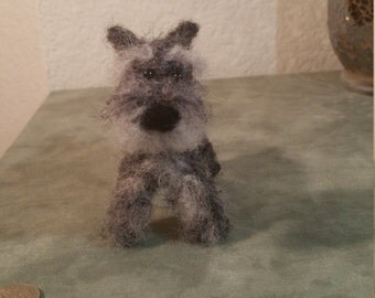 Needle felted Miniature Schnauzer!