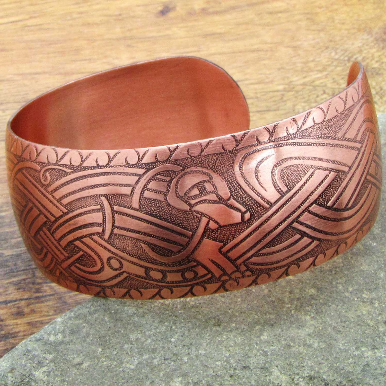mens viking bracelet norse bracelet mens pure copper bracelet. Black Bedroom Furniture Sets. Home Design Ideas