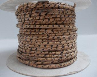 Natural Portuguese Leopard Cork,Cork Cord 3mm(1 Meter)