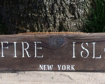 Classic Large Fire Island Sign