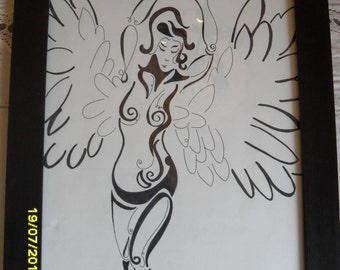 Send Me An Agel Drawing - Spirtual - Angel - Home Decor - Wall Art - Gift