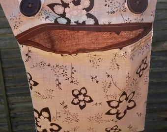 Handmade pretty peg bag