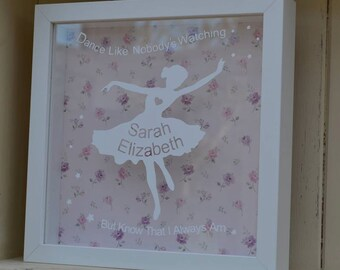 Dance Like Nobody's Watching Personalised Pink Frame Gift