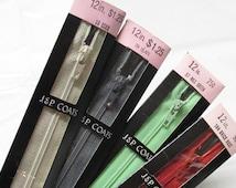 JP Coats Polyester Zipper 12 inches
