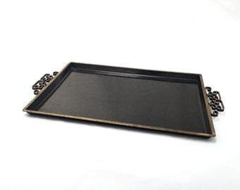 Black Moire Glaze Kyes Tray