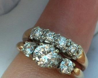 14k Gold 1.40ct Diamond Wedding Set Gorgeous