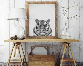 50% OFF SALE Animal Print, Tiger Print, Animal Decor, Nursery Animal Prints, Black White Animal, Animal Print Nursery, Animal Photography