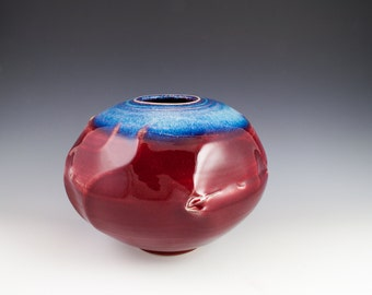 Blue and Red Vase