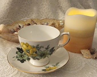 Vintage Queen Anne, Pattern 8520 Fine Bone China Tea Cup & Saucer