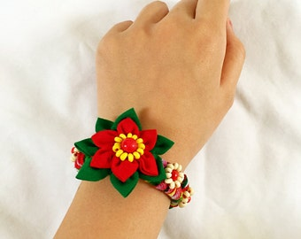 Handmade traditional strawberry inspired bracelet