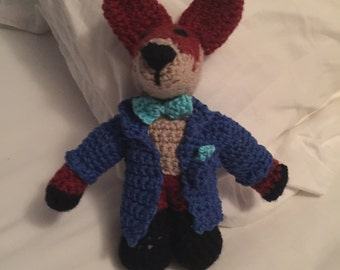 Crochet amigurami dapper mr fox stuffed toy