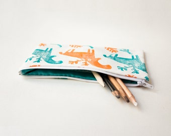 handmade reindeer pencil case