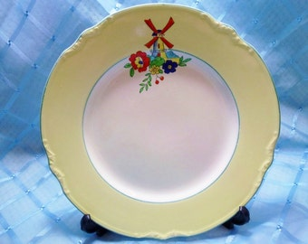"Vintage ""J & G Meakin"" 'Sol' Salad Plate featuring a Windmill"