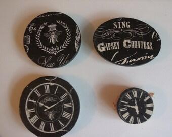 Gypsy Wood Magnet Set
