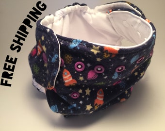 Diaper Cover / Potty Training Underwear, Galaxy, Absorbent, Adjustable, Preemie / Newborn / Toddler