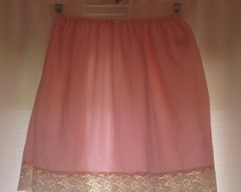 baby pink lace slip