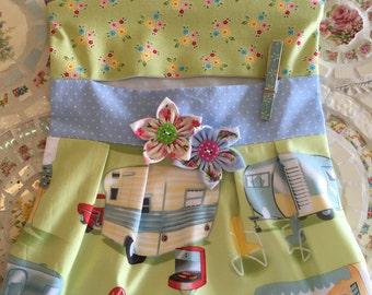 Vintage Travel Trailer Clothes Pin Bag