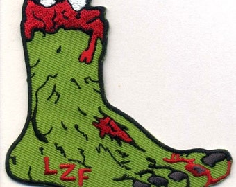 LUCKY ZOMBIE'S FOOT Embroidered Patch, Punk, Horror, Biker, Vest, Morale Patch