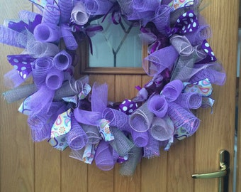 Large purple wreath