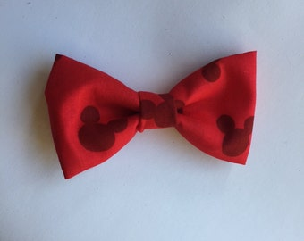 Mickey Mouse Red Bow Tie