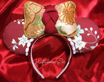 Japanese Kimono Inspired Minnie Mouse Ears   Limited Edition