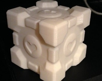 3D Printed Companion Cube From Portal // Aperture // Cosplay