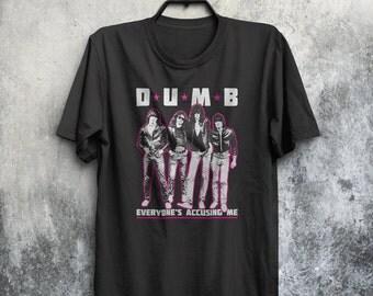 D.U.M.B Pinhead Ramones Inspired NYC Punk Garage Rock Adults Mens & Women's T-shirt Top Tee Shirt All Sizes And Colours