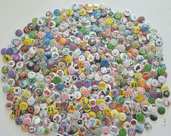 25 -  Flat Back and Pin Back Buttons, Made from any image you see in our shop - or special requests.Mix and Match,Buttons,