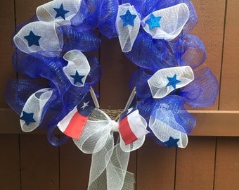 Texas Wreath, State Wreath, Texas Pride, Made to Order