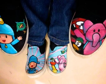 CHILDREN Pocoyo hand-painted shoes