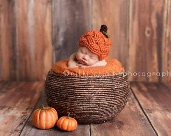 Pumpkin beanie, crochet beanie, toddler crochet beanie, halloween beanie, fall beanie, pumpkin hat, photo prop