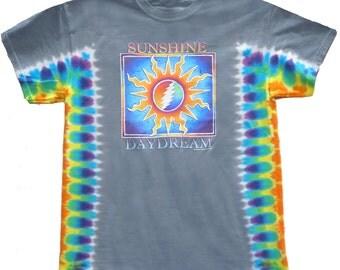 Grateful Dead T-Shirt - Sunshine Daydream Tie Dye / 13 point lightning bolt/ Sun/