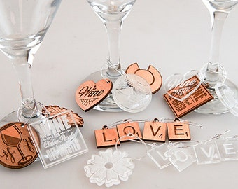 Engraved Wine Charms