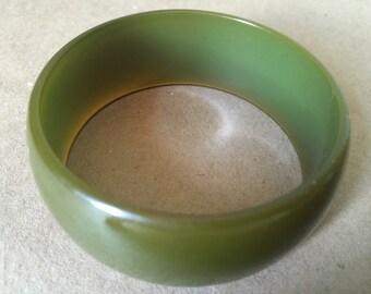 Vintage Jade Green Plastic Bangle Bracelet. Vintage Bracelet. Small Bangle 1960s