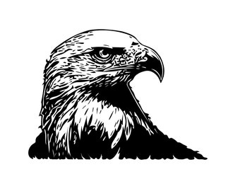 Eagle Head - File Download - svg, png, dxf, eps, jpeg file formats