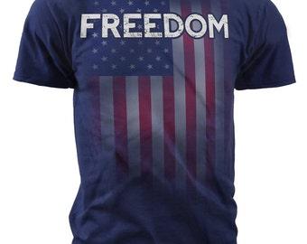 Black Ink Mens Freedom T-Shirt (MT696)