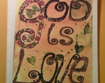 God is Love notecards - set of 6 notecards with envelopes