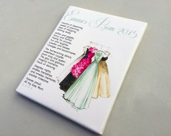 Personalised prom keepsake gift for daughter poem school leavers graduation