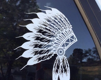 Indian Headdress Decal
