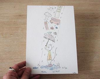 London Baby - Original Watercolour