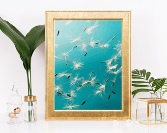 Make a Wish Dandelion home decor print, wall art, poster
