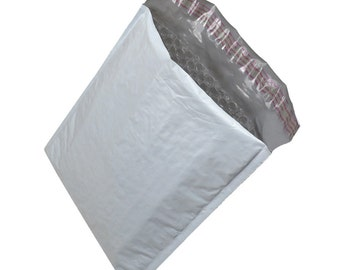 100 4X8 Poly Bubble Mailers Bags Shipping Envelopes Self Sealing Mailers