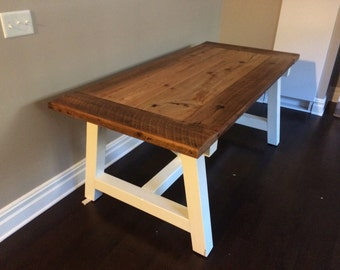 Rustic Truss Table with Barnwood Top