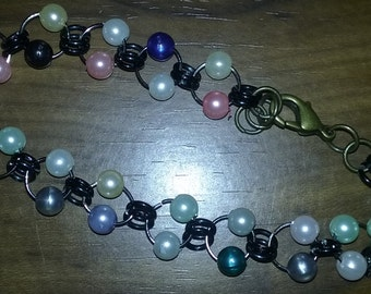 Chainmaile Beaded Bracelet