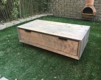 hand built  mid century/modern coffee table