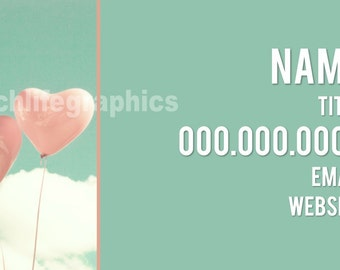 Pink Balloons Business Card