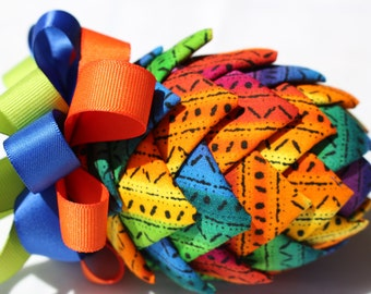Fiesta Fabric Quilted Ornament