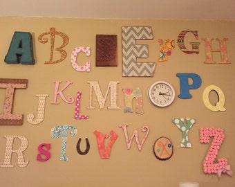Alphabet Letter Set for Nursery or Playroom