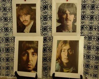 THE BEATLES, lot of 4 Lithographs